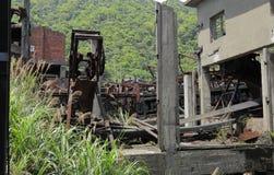 Ruiny zaniechana przemysłowa fabryka Zdjęcie Stock