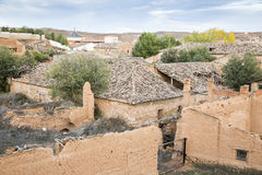 Ruiny zaniechani nieociosani domy Obraz Royalty Free