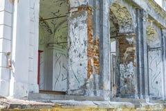Ruiny zaniechany stary dom Obraz Royalty Free