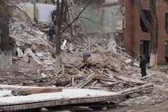 Ruiny zawalony dom fotografia royalty free