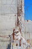 Ruiny zniszczony budynek fotografia stock