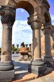 Ruiny Zvartnots świątynia w Armenia obrazy royalty free
