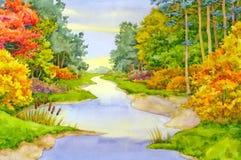 Ruisseau d'automne Photo libre de droits