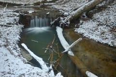 Ruisseau d'hiver images stock