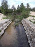 ruisseau dans le désert, paradis d'oasis sur terre image stock