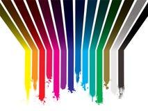 Ruissellement de peinture d'arc-en-ciel Photographie stock libre de droits