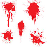 Ruissellement de sang Photographie stock