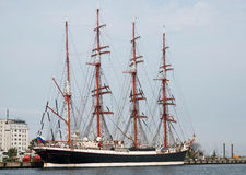 Ruissian sail ship Sedov. The last working and second large sail school ship in the world, Sedov. The ship is under the russian flag. Its the largest traditional Royalty Free Stock Image