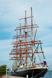 Ruissian sail ship Sedov. The last working and second large sail school ship in the world, Sedov. The ship is under the russian flag. Its the largest traditional Royalty Free Stock Photos