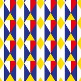 Ruit geometrisch naadloos patroon Kooi eindeloze achtergrond Vierkante het herhalen textuur In achtergrond voor textiel vector illustratie