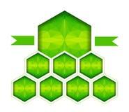 Ruit met lint in driehoeksstijl Stock Afbeeldingen