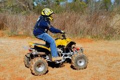 Ruiter ATV stock foto