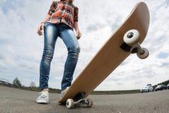 Ruiter met het skateboard stock afbeeldingen