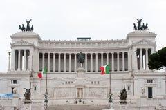 Ruiter monument aan Kampioen Emmanuel II Rome, het Stock Fotografie