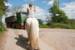 Ruiter op een paard Royalty-vrije Stock Foto