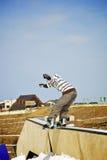 Ruiter in park stock foto