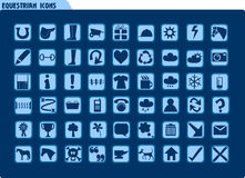 Ruiter pictogrammen Stock Foto