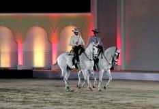 Ruiter presteert op 26 Maart, 2012 in Bahrein Royalty-vrije Stock Foto's