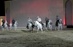 Ruiter presteert op 26 Maart, 2012 in Bahrein Stock Fotografie