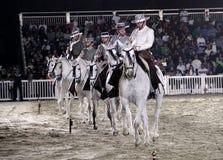 Ruiter presteert op 26 Maart, 2012 in Bahrein Royalty-vrije Stock Fotografie