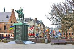 Ruiter standbeeld van Koning William II, Royalty-vrije Stock Afbeelding