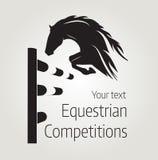 Ruitercompetities - vectorillustratie van paard Royalty-vrije Stock Foto
