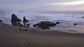 Ruiters en surfer Royalty-vrije Stock Foto's