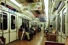 Ruiters op metro, Osaka, Japan Royalty-vrije Stock Foto