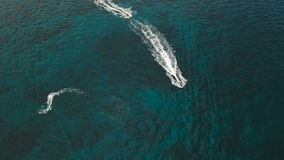Ruiters op straalski Boracayeiland Filippijnen stock videobeelden