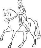 Ruitersport - dressuur Royalty-vrije Stock Fotografie