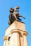 Ruiterstandbeeld aan de stichter van Togliatti Vasily Tatishchev Royalty-vrije Stock Foto