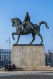 Ruiterstandbeeld die de koning Carol in Boekarest Roemenië vertegenwoordigen Royalty-vrije Stock Fotografie