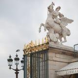 Ruiterstandbeeld in Parijs Royalty-vrije Stock Foto