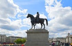 Ruiterstandbeeld van Koning George IV stock foto