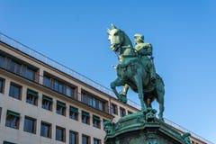 Ruiterstandbeeld van Koning Karl IX van Zweden in Gothenburg bij Som Royalty-vrije Stock Foto