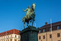 Ruiterstandbeeld van Koning Karl IX van Zweden in Gothenburg bij Som Royalty-vrije Stock Afbeelding