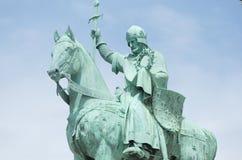 Ruiterstandbeeld van Koning Saint Louis, Sacré-Cœur DE Montmartre Stock Foto