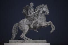 Ruiterstandbeeld van Marcus Vipsanius Agrippa, promotor van t royalty-vrije stock foto