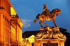 Ruiterstandbeeld van Prins Eugene van Savooiekool in Buda Castle, Boedapest royalty-vrije stock afbeeldingen