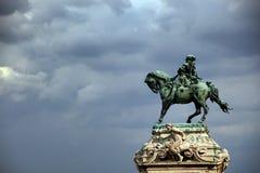 Ruiterstandbeeld van Prins Eugene van Savooiekool in Buda Castle, Boedapest royalty-vrije stock fotografie