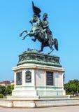 Ruiterstandbeeldaartshertog Charles in Wenen, Oostenrijk Stock Foto