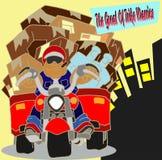 Ruiterstrijder met drie wielen Royalty-vrije Stock Afbeeldingen