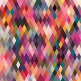 Ruitvormig patroon van geometrische vormen Textuur met stroom van spectr Stock Afbeeldingen