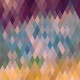 Ruitvormig patroon van geometrische vormen Textuur met stroom van spectr Stock Fotografie
