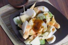 Rujak, Traditional fruit salad dish Stock Photos