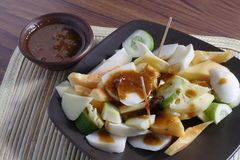 Rujak, Traditional fruit salad dish Stock Photo