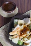 Rujak, Traditional fruit salad dish Royalty Free Stock Photo