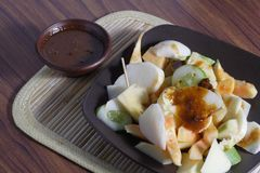 Rujak, Traditional fruit salad dish Stock Photo