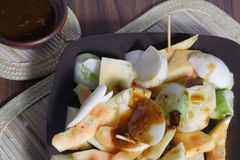 Rujak, Traditional fruit salad dish Stock Image