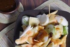 Rujak, Traditional fruit salad dish Stock Image